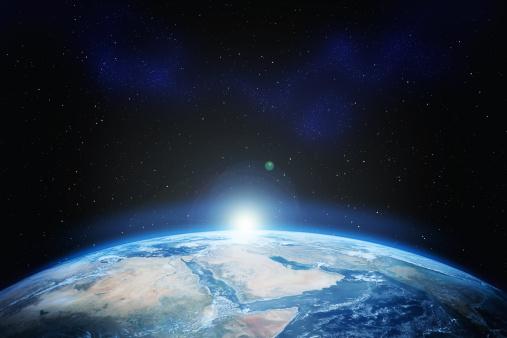 Spacecraft「Earth with stars」:スマホ壁紙(10)