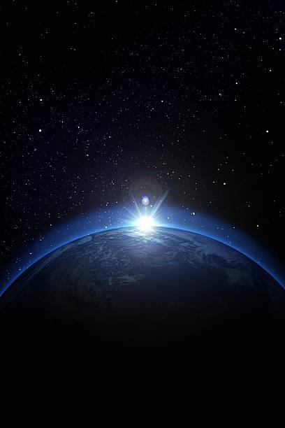 Earth with stars:スマホ壁紙(壁紙.com)