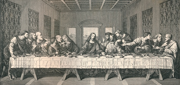 Last Supper「The wall painting of `The Last Supper`, at Milan, 1883. Artist: Unknown.」:写真・画像(3)[壁紙.com]