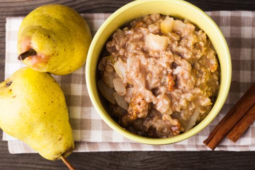 Pear「Oatmeal with pears slices」:スマホ壁紙(7)