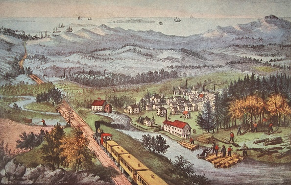 1870-1879「Railroad Through To The Pacific」:写真・画像(0)[壁紙.com]