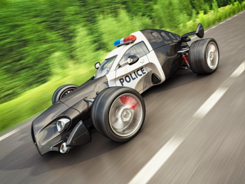 Hot Rod Car「police race car」:スマホ壁紙(7)
