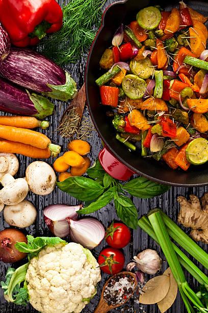 Grilled vegetables:スマホ壁紙(壁紙.com)