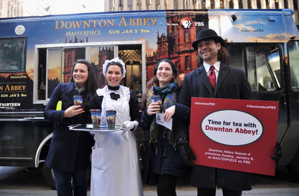 """Biscuit「""""Downton Abbey"""" Season 4 Tea And Biscuit Truck Fan Experience」:写真・画像(14)[壁紙.com]"""