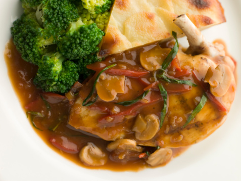 Tarragon「Sauteed Chicken Chasseur with Broccoli and Pomme Anna」:スマホ壁紙(13)