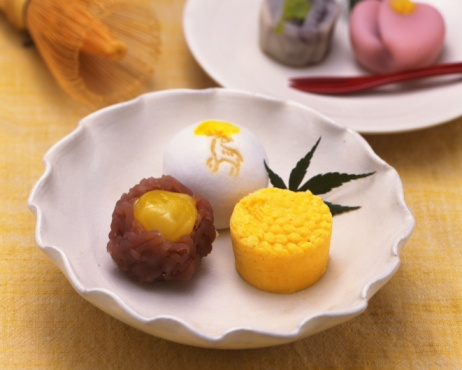 Wagashi「Japanese Sweets, High Angle View, Differential Focus」:スマホ壁紙(6)
