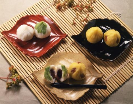Wagashi「Japanese Sweets, High Angle View」:スマホ壁紙(7)