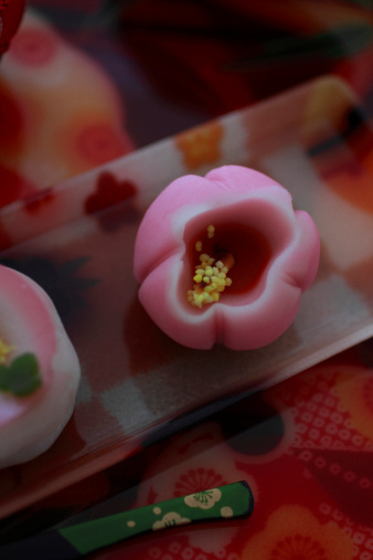 Wagashi「Japanese Sweets on Plate」:スマホ壁紙(2)