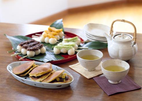 Wagashi「Japanese Sweet and Green Tea」:スマホ壁紙(12)