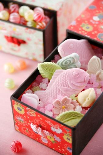 ひな祭り「Japanese sweets」:スマホ壁紙(8)