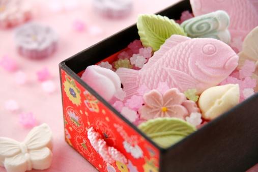 ひな祭り「Japanese sweets」:スマホ壁紙(12)