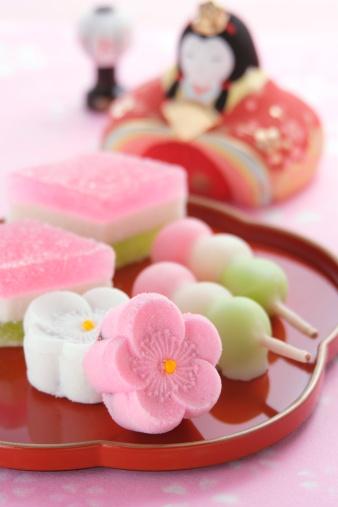 ひな祭り「Japanese sweets」:スマホ壁紙(16)