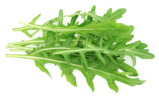 Arugula「Rucola leaves isolated on white」:スマホ壁紙(2)