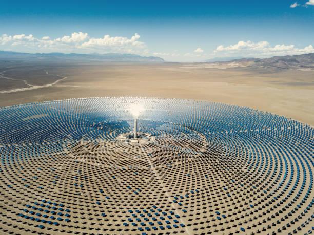 Solar Thermal Power Station Aerial View:スマホ壁紙(壁紙.com)