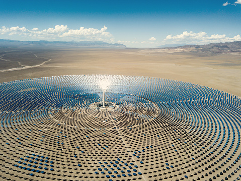 Environmental Conservation「Solar Thermal Power Station Aerial View」:スマホ壁紙(15)