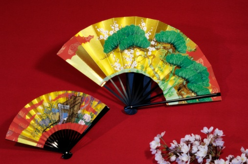 Folding Fan「Japanese fans and cherry blossoms」:スマホ壁紙(8)