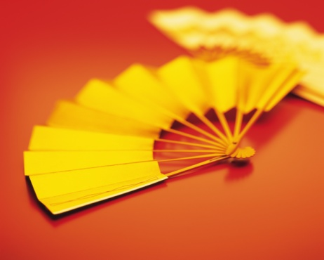 Gold Colored「Japanese fans, Close Up, High Angle View, Toned Image, Differential Focus」:スマホ壁紙(17)