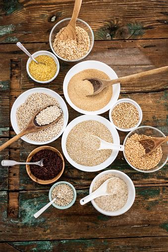 Bulgur Wheat「Cereal mix: red rice, barley, amaranth, quinoa, rice, bulgur, spelt, oats and buckwheat」:スマホ壁紙(3)