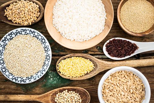 Bulgur Wheat「Cereal mix: red rice, barley, amaranth, quinoa, rice, bulgur, spelt and buckwheat」:スマホ壁紙(1)