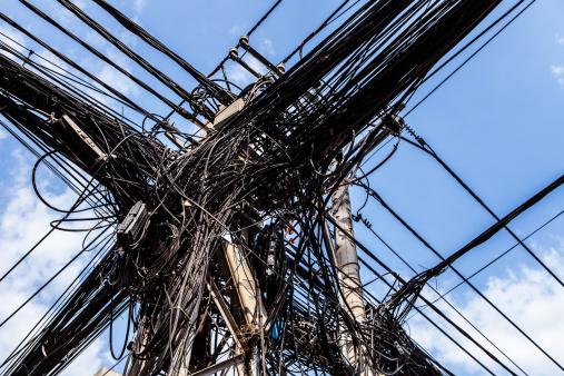 Telephone Pole「Electricity cables, Hanoi, Vietnam」:スマホ壁紙(5)