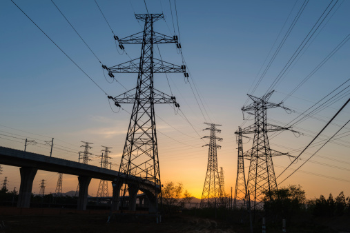 Electricity Pylon「Electricity Pylon Power lines at a sunset」:スマホ壁紙(16)