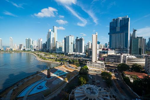 Central America「Panama, Panama City, skyline, financial district」:スマホ壁紙(1)