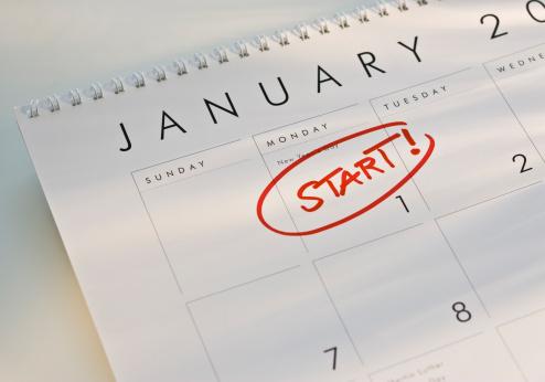 New Year「Start on January 1」:スマホ壁紙(8)