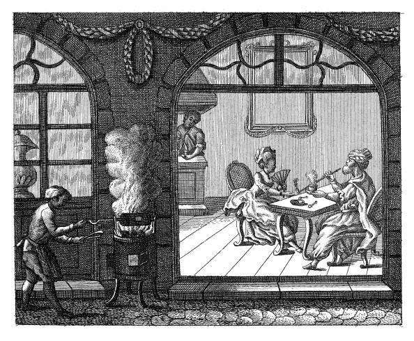 Roasted「The Coffee Roaster. Etching. From: Schauplatz Der Natur Und Künste. In Vier Sprachen. Deutsch. Lateinisch. Französisch Und Italienisch. Erster Jahrgang. Joseph Kurzbeck. Vienna. 1774.」:写真・画像(1)[壁紙.com]