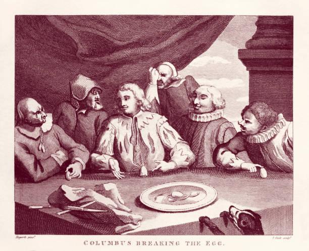 Columbus Breaking the Egg by William Hogarth:ニュース(壁紙.com)