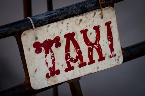 サイクリング「Old Taxi Sign」:スマホ壁紙(11)