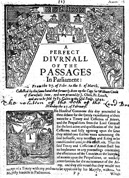 Renaissance「A Perfect Diurnal of the Passages in Parliament」:写真・画像(1)[壁紙.com]