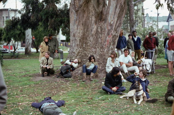 カリフォルニア州 サンフランシスコ「Hippies In Park」:写真・画像(2)[壁紙.com]