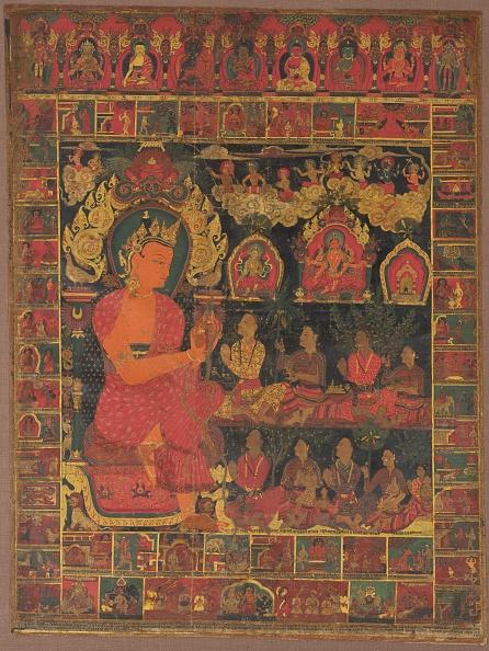 Preacher「Thangka With Bejeweled Buddha Preaching」:写真・画像(6)[壁紙.com]