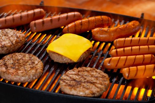 Hot Dog「Hamburgers and Hot Dogs on Grill」:スマホ壁紙(10)