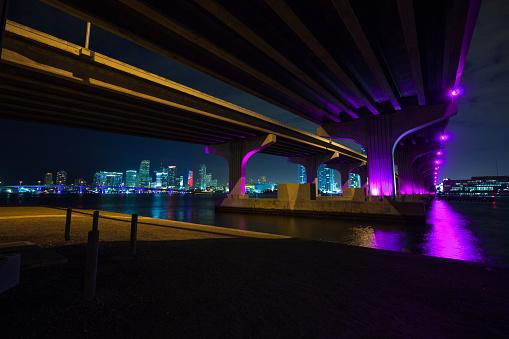 Miami Beach「マイアミのマッカーサー ・ コーズウェイ ブリッジ」:スマホ壁紙(6)