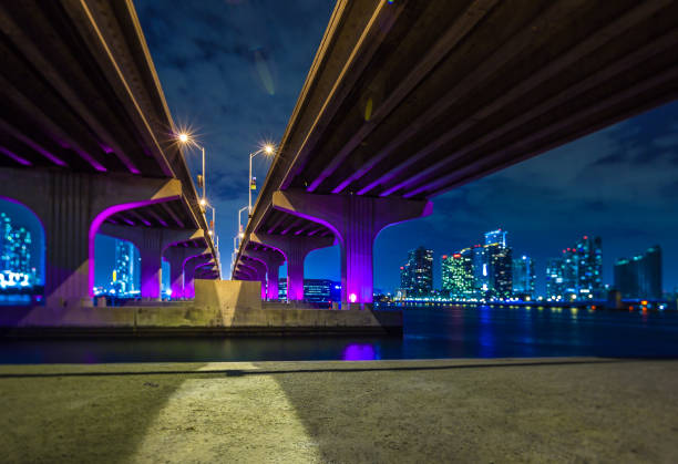 MacArthur Causeway bridge  in Miami:スマホ壁紙(壁紙.com)
