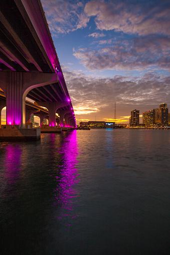 Miami Beach「マイアミのマッカーサー ・ コーズウェイ ブリッジ」:スマホ壁紙(7)