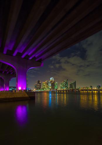Miami Beach「マイアミのマッカーサー ・ コーズウェイ ブリッジ」:スマホ壁紙(1)