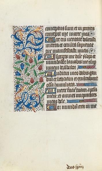 Manuscript「Book Of Hours (Use Of Rouen): Fol. 134V」:写真・画像(10)[壁紙.com]