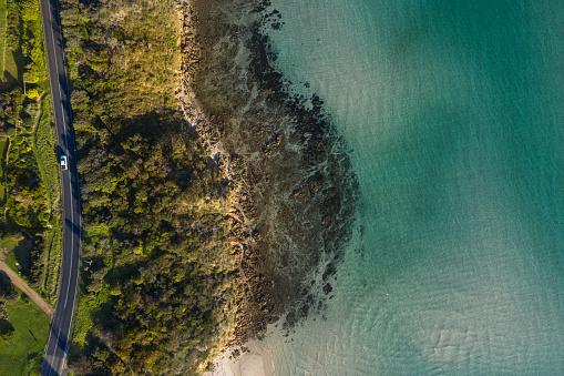 Drone Point of View「Coastal Road Aerial Mt Martha」:スマホ壁紙(2)