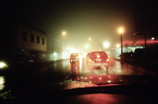 Urban Road「Late night driving in the rain and fog」:スマホ壁紙(14)