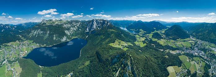 Dachstein Mountains「Altaussee and Grundlsee, Steiermark, Ausseerland, Panorama, Austrian Alps」:スマホ壁紙(12)