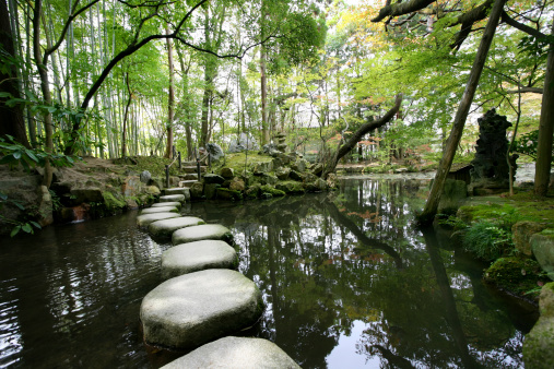 Japanese Garden「Stepping stones」:スマホ壁紙(6)