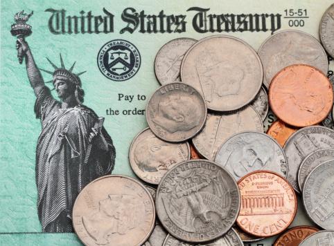 Refund「US coins on IRS tax refund check」:スマホ壁紙(7)