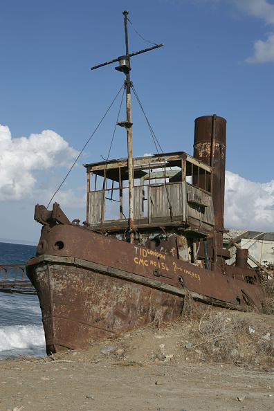 Republic Of Cyprus「A steam tug abandoned in the North Cyprus village of Gemikonagi on the Mediterranean coast. December 2008」:写真・画像(0)[壁紙.com]
