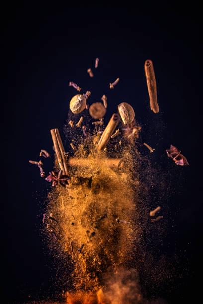 Winter Spice Mix Food Explosion:スマホ壁紙(壁紙.com)