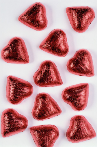 Love - Emotion「Red candy hearts, close-up」:スマホ壁紙(14)
