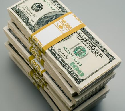 American One Hundred Dollar Bill「A stack of hundred dollar bills」:スマホ壁紙(8)