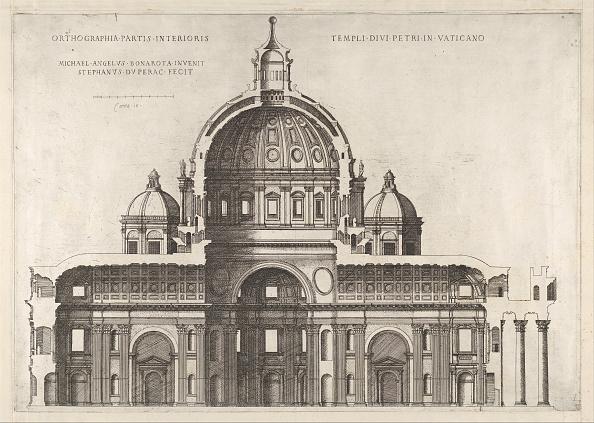 バシリカ「Speculum Romanae Magnificentiae: Longitudinal Section Showing The Interior Of Sai」:写真・画像(18)[壁紙.com]