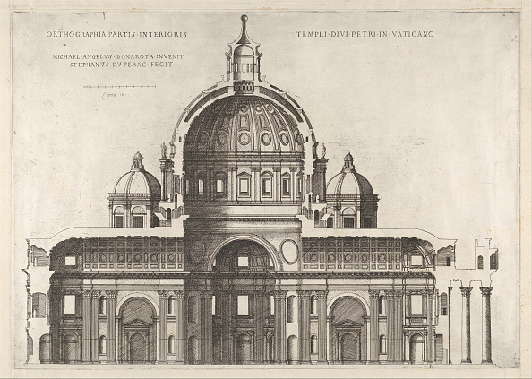 Michelangelo - Artist「Speculum Romanae Magnificentiae: Longitudinal Section Showing The Interior Of Sai」:写真・画像(15)[壁紙.com]